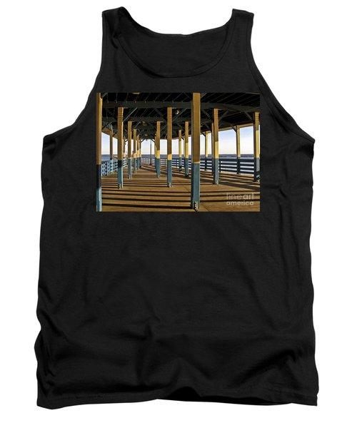 Seascape Walk On The Pier Tank Top by Carol F Austin