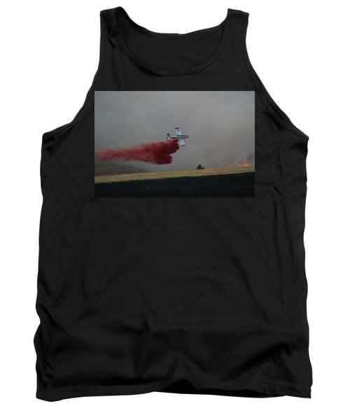 Seat Drops On Indian Canyon Fire Tank Top by Bill Gabbert