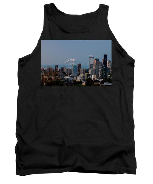 Seattle-mt. Rainier In The Morning Light .1 Tank Top