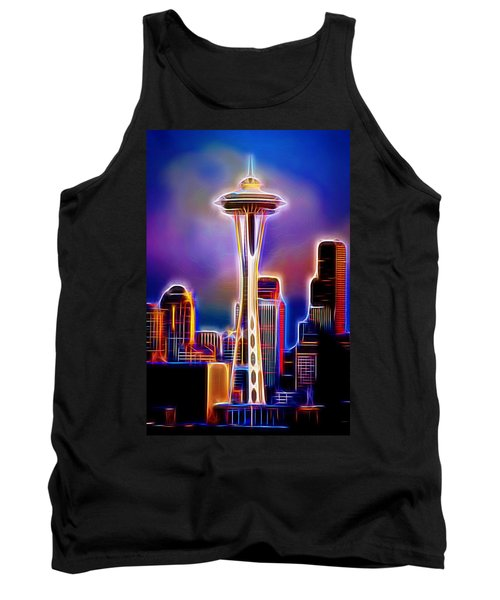 Tank Top featuring the photograph Seattle Space Needle 1 by Aaron Berg