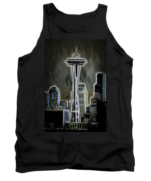 Tank Top featuring the photograph Seattle Space Needle 2 by Aaron Berg