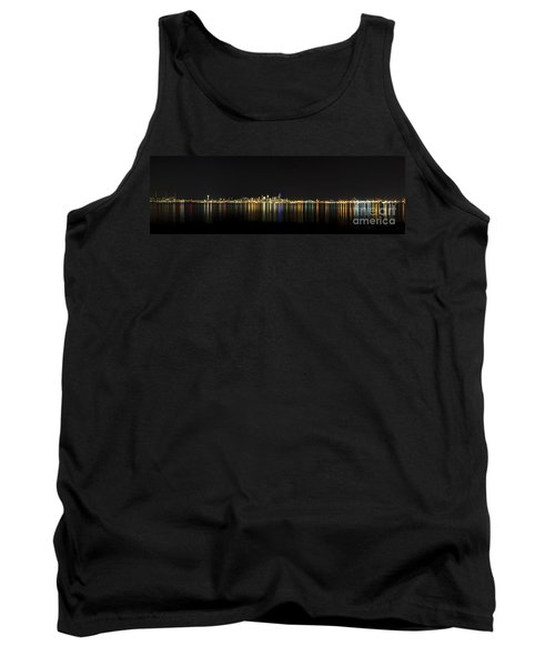 Seattle Washington Skyline From Alki Seacrest Park At 10mm Tank Top by Patrick Fennell