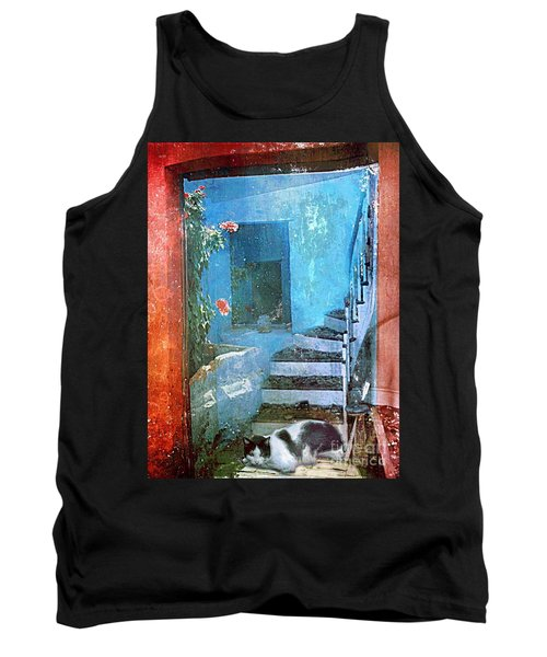 Tank Top featuring the digital art Secret Space by Alexis Rotella