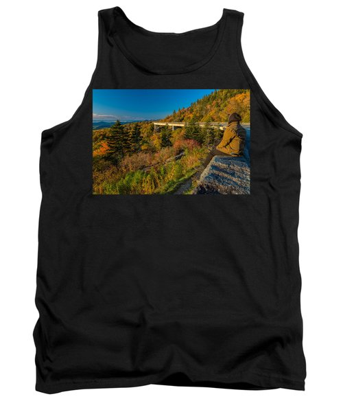 Seize The Day At Linn Cove Viaduct Autumn Tank Top