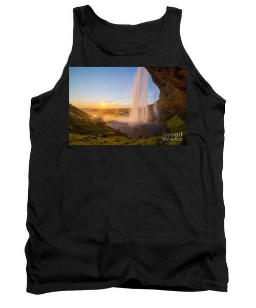 Seljalandsfoss Sunset Iceland Tank Top