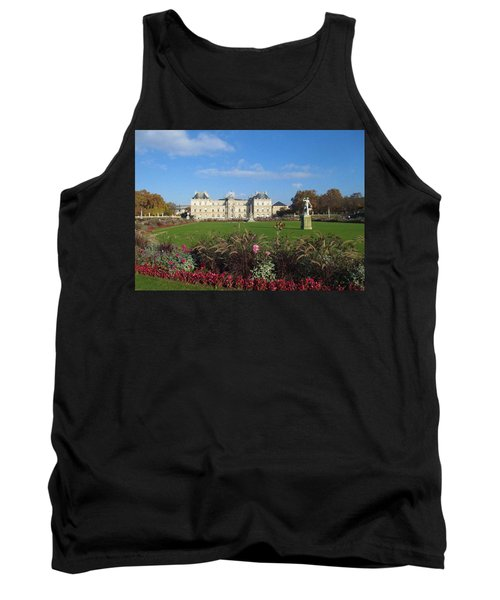 Tank Top featuring the photograph Senate From Jardin Du Luxembourg by Christopher Kirby