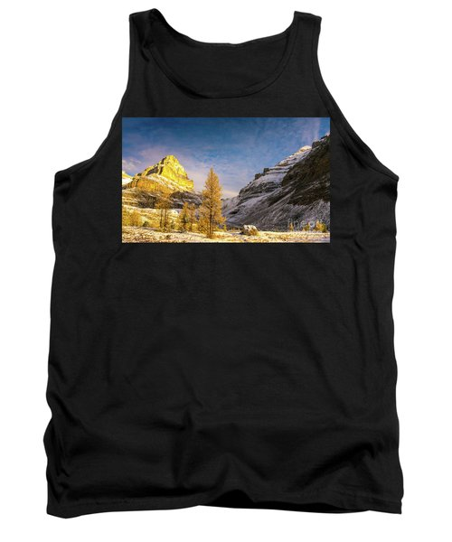 Sentinel Pass Golden Larches Canadian Rockies Tank Top