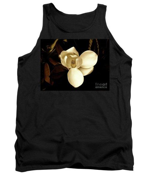 Sepia-toned Magnolia Tank Top