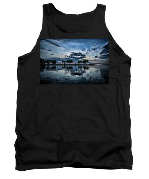 Serene Summer Water And Clouds Tank Top
