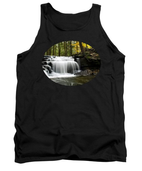 Serenity Waterfalls Landscape Tank Top by Christina Rollo