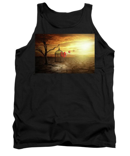 Tank Top featuring the digital art Set Your Self Free by Nathan Wright