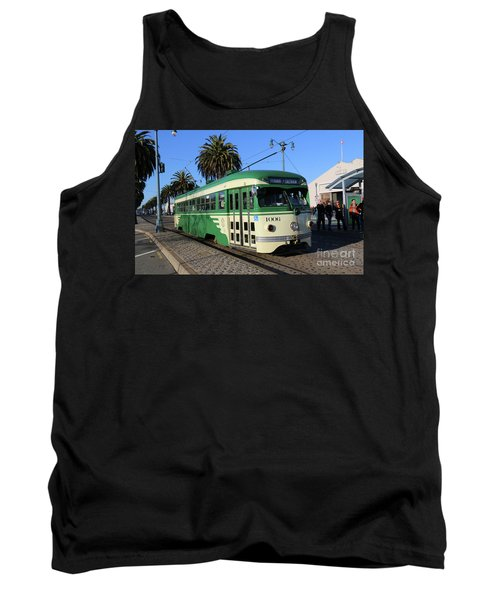 Tank Top featuring the photograph Sf Muni Railway Trolley Number 1006 by Steven Spak