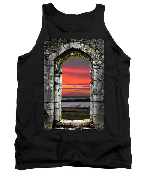 Tank Top featuring the photograph Shannon Sunrise Through Medieval Arch by James Truett