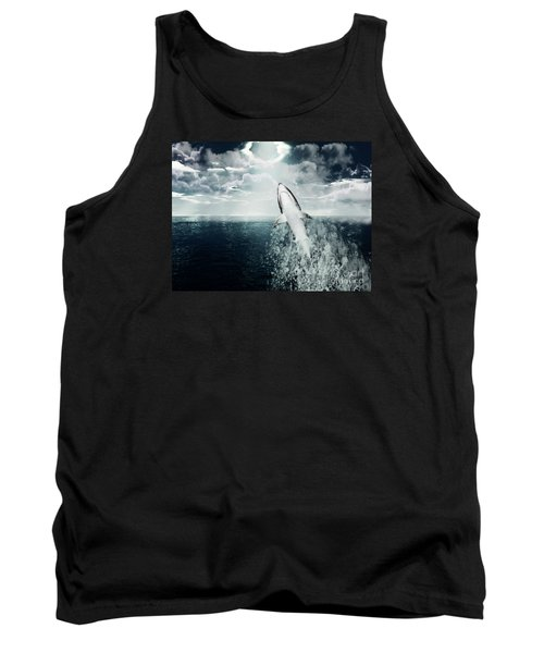 Tank Top featuring the photograph Shark Watch by Digital Art Cafe
