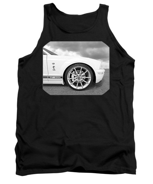 Shelby Gt500 Wheel Black And White Tank Top
