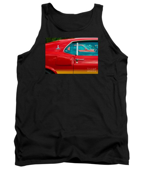 Red Shelby Mustang Side View Tank Top