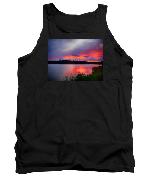 Shelf Cloud At Sunset Tank Top by Bill Barber