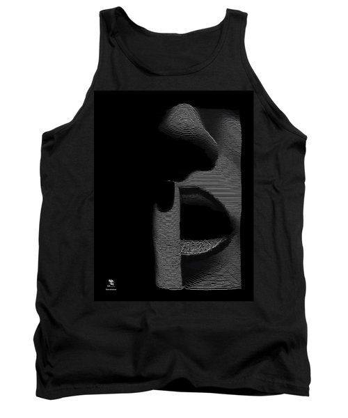 Shhh Tank Top by ISAW Gallery