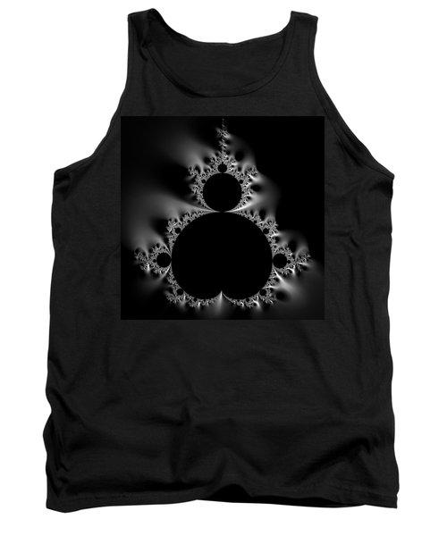Shiny Cool Mandelbrot Set Black And White Tank Top