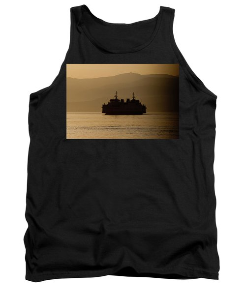 Tank Top featuring the digital art Ship by Bruno Spagnolo