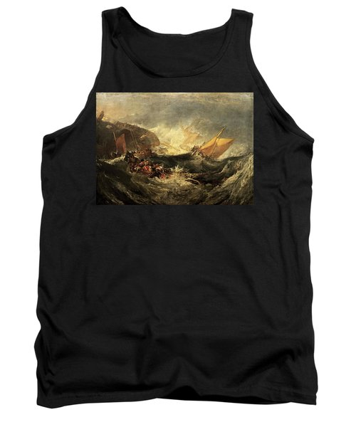 Tank Top featuring the painting Shipwreck Of The Minotaur by J M William Turner