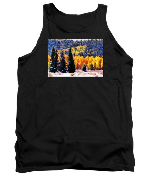 Shivering Pines In Autumn Tank Top by Diane Alexander