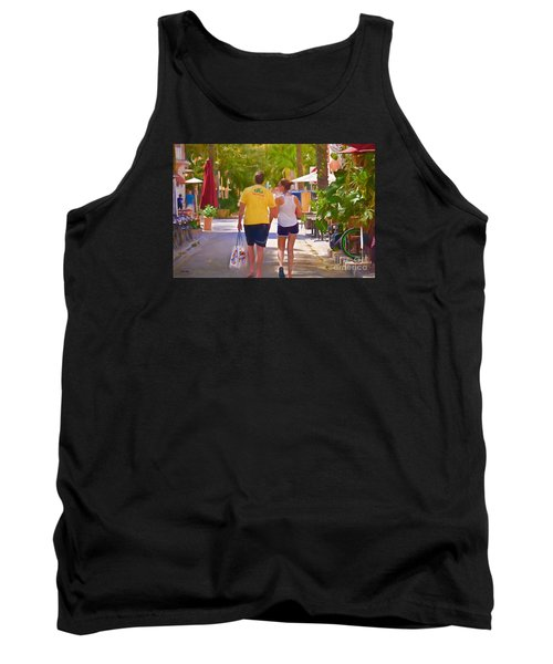Tank Top featuring the photograph Shopping Miami Style by Judy Kay
