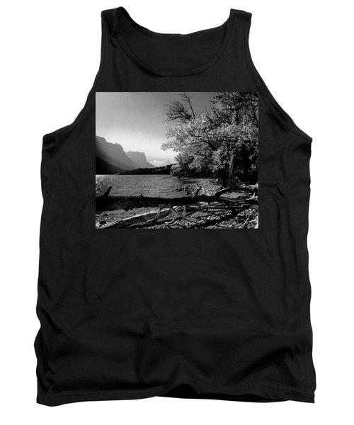 Shoreline Black And White Tank Top