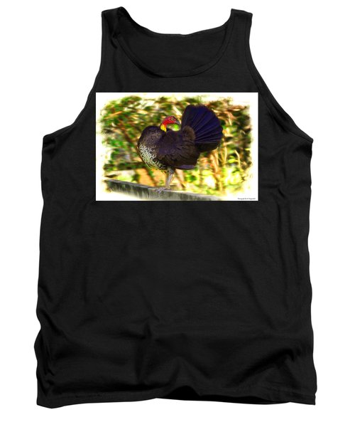 Tank Top featuring the photograph Show Off 01 by Kevin Chippindall