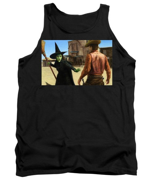 Tank Top featuring the painting Showdown by James W Johnson