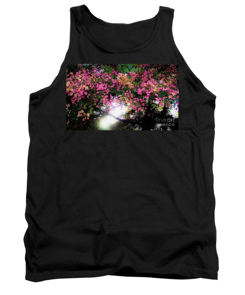 Shower Tree Flowers And Hawaii Sunset Tank Top