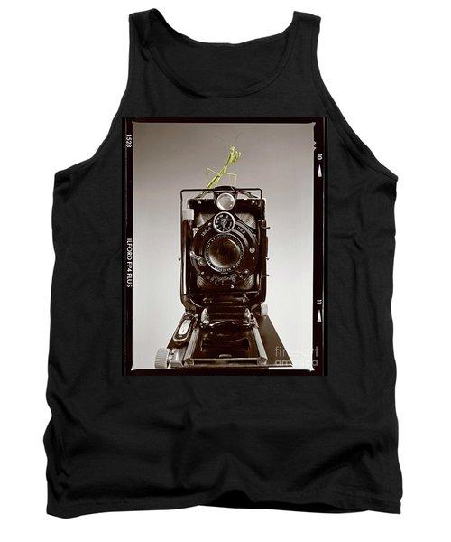 Tank Top featuring the photograph Shutterbug Mantis by Martin Konopacki