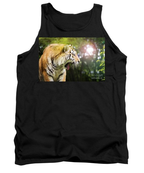 Siberian Tiger In Sunlit Forest Tank Top
