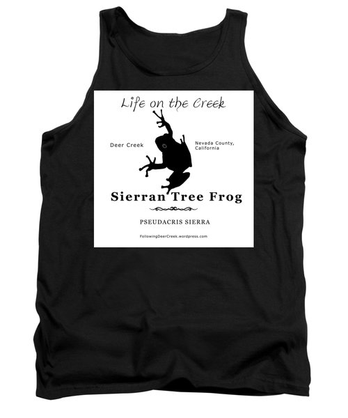 Sierran Tree Frog - Black Graphics Tank Top