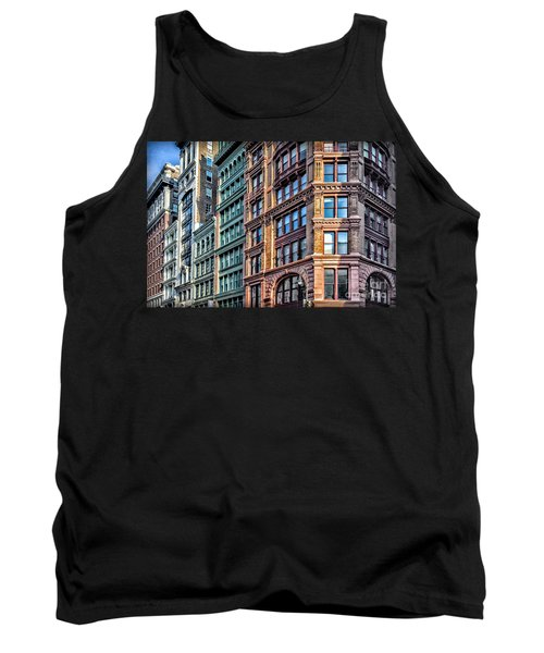 Tank Top featuring the photograph Sights In New York City - Colorful Buildings by Walt Foegelle