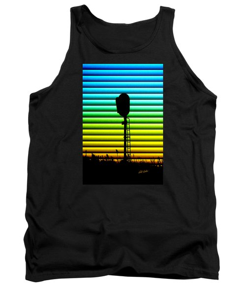 Tank Top featuring the photograph Signal At Dusk by Bill Kesler