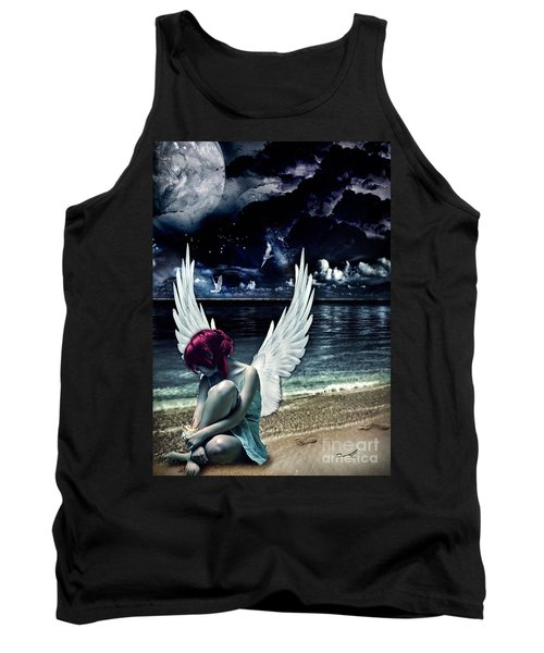 Silence Of An Angel Tank Top by Mo T