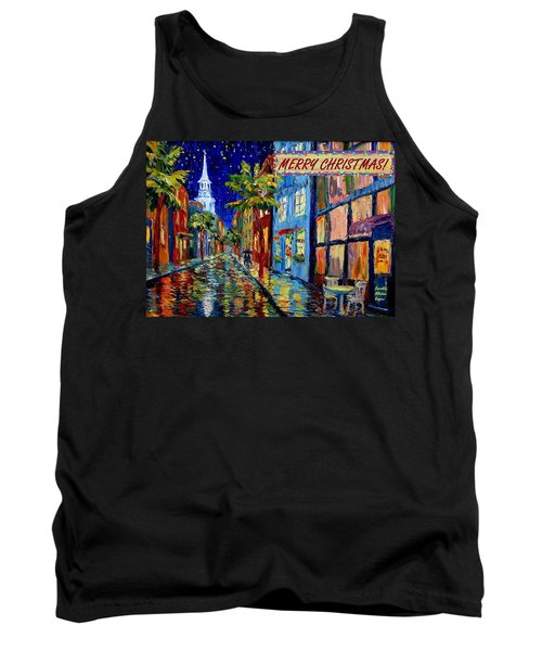 Silent Night Christmas Card Tank Top