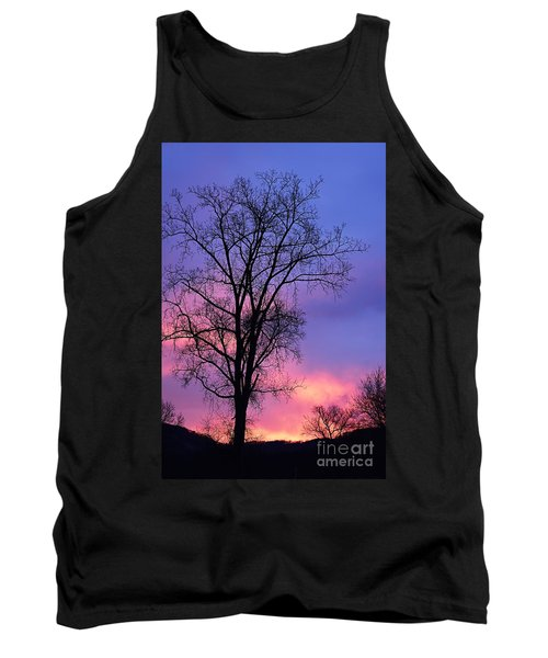 Tank Top featuring the photograph Silhouette At Dawn by Larry Ricker
