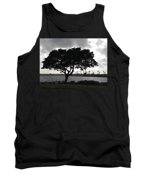 Silhouette Of Tree Tank Top