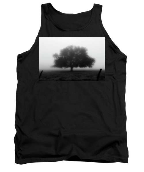 Silhouette Of Tree In Field Tank Top