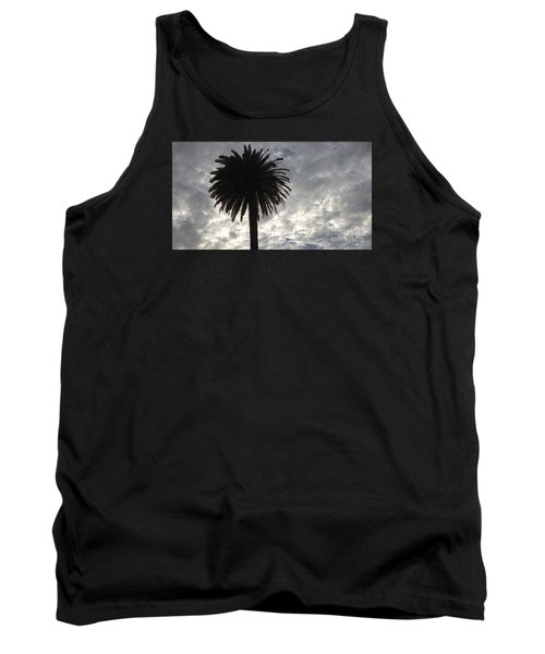 Tank Top featuring the photograph Silhouette Solo Palm  by Nora Boghossian