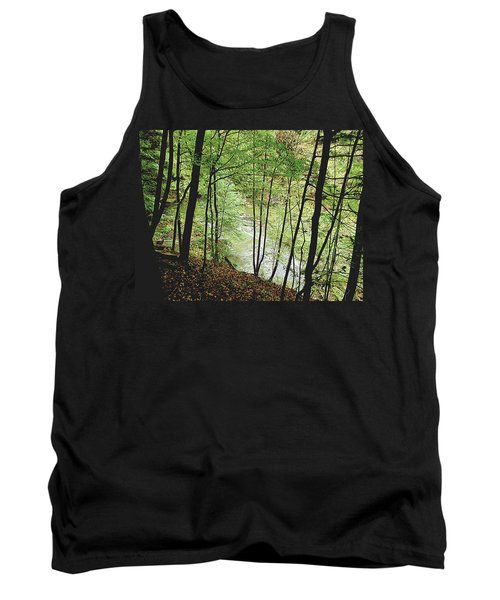 Silhouetted Trees Tank Top