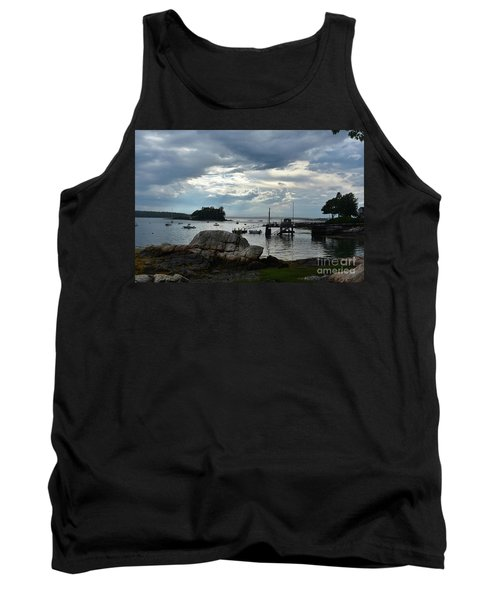 Silhouetted Views From Bustin's Island In Maine Tank Top by DejaVu Designs