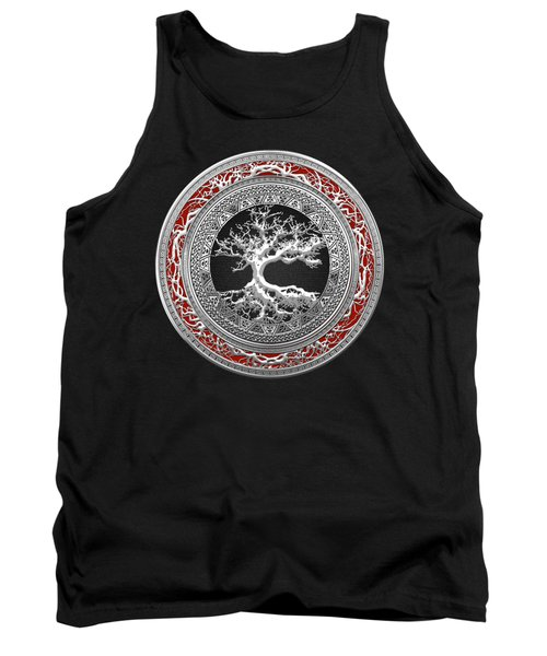 Silver Celtic Tree Of Life Tank Top