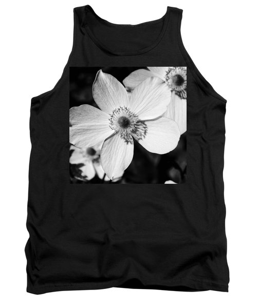 Simply Black And White Tank Top by Karen Stahlros