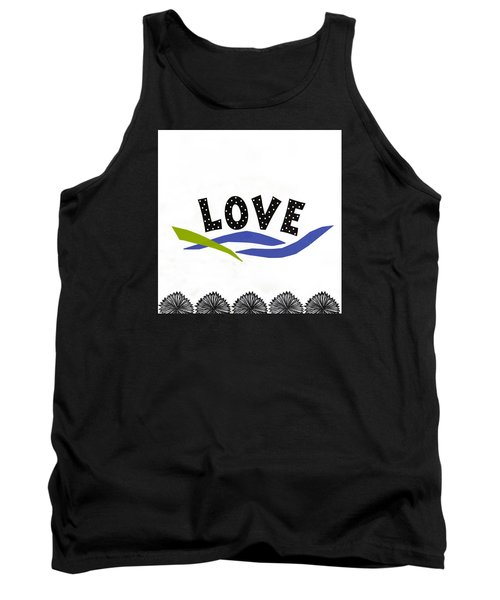 Tank Top featuring the mixed media Simply Love by Gloria Rothrock