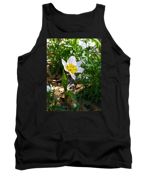 Tank Top featuring the photograph Single Flower - Simplify Series by Carla Parris