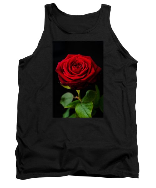 Single Rose Tank Top by Miguel Winterpacht