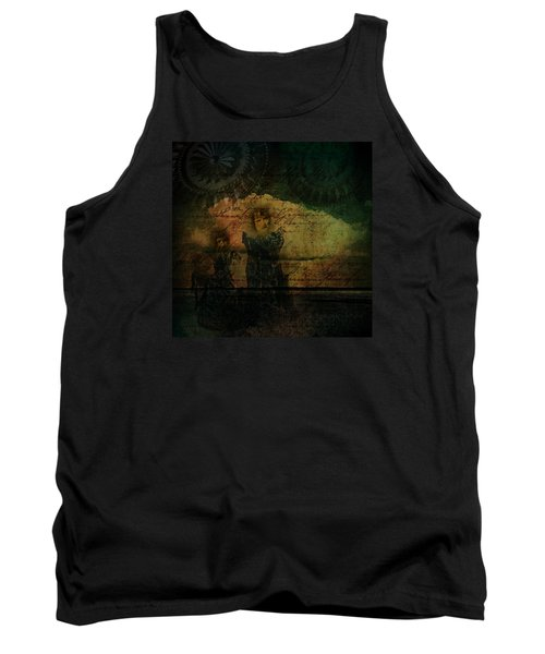 Tank Top featuring the digital art Sisters At The Shore by Delight Worthyn